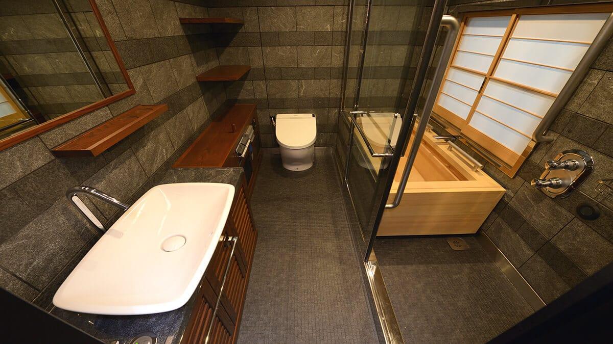 浴室の障子の施工事例