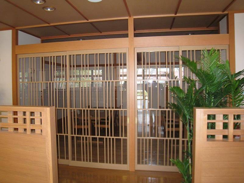 アルミ製建具ガラス戸の施工事例